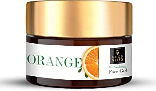 Good Vibes Orange Refreshing Face Gel 100 g, Skin Brightening Hydrating Non Greasy Moisturizing Light Weight Nourishing Fo...