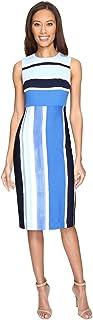 Donna Morgan Women's Sleeveless Striped Sheath Dress