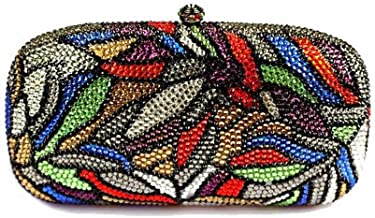 Shirleyle Clutch Purses for Women Rhinestone Dinner Bag European and American Clutch Bag Abstract Hand Clutch Bag Handbag for Prom Night Out Party