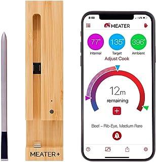 MEATER Plus | De Slimme Draadloze Vleesthermometer Met 50m Lang Bereik Voor De Oven, Gril, Keuken, Barbecue, Rookoven en/o...