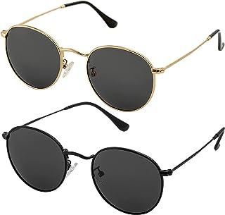 Small Round Polarized Sunglasses for Men Women Classic...
