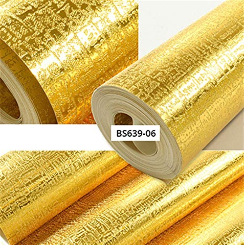 Impermeable fácil aplicación fondo de pantalla ext Oro hoja de plata fondo de pantalla a prueba de agua Sala de estar clásica de lujo dormitorio de techo de rayas de celosía de oro Glitter Pared Papel