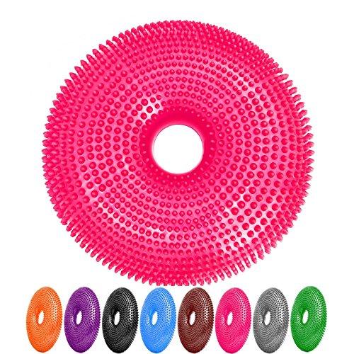 #DoYourFitness Ballsitzkissen mit Loch »Donut« inkl. Pumpe (ca. 140kg Maximalgewicht) /Luftkissen/Balance-Kissen für Fitness-, Reha-, Koordinations-, und Rückentraining/ 33 cm/karottenorange