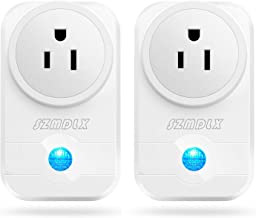 SZMDLX Smart Plug, Smart Outlet WiFi Plug Wireless Outlet WiFi Timer Plug Remote Control by Smartphone Compatible with Alexa Google Home No Hub Required (2 Pack)