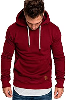 DishyKooker Men Fashion Drawstring Hooded Sweatshirt Long-Sleeve Casual Coat Tops for Winter Autumn,Super Comfortable,Super Comfortable