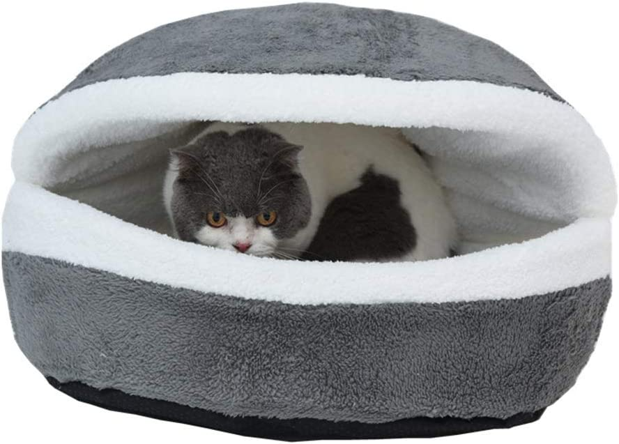 avbxcuecc Very popular Soft Special price for a limited time Cute Hamburger Bed Cat She Kitty Pet Puppy Nest