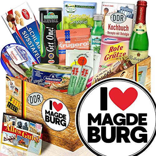 I love Magdeburg / Geschenk Magdeburg / Spezialitäten Box DDR