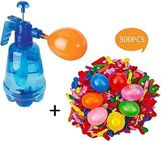 WATERFAIL Bombas De Agua Juego De Globos, Botella De Pulverización 3 En 1 + 300 Globos PCS - Fácil De Llenar - Ideal para Juegos De Agua Y Diversión De Verano