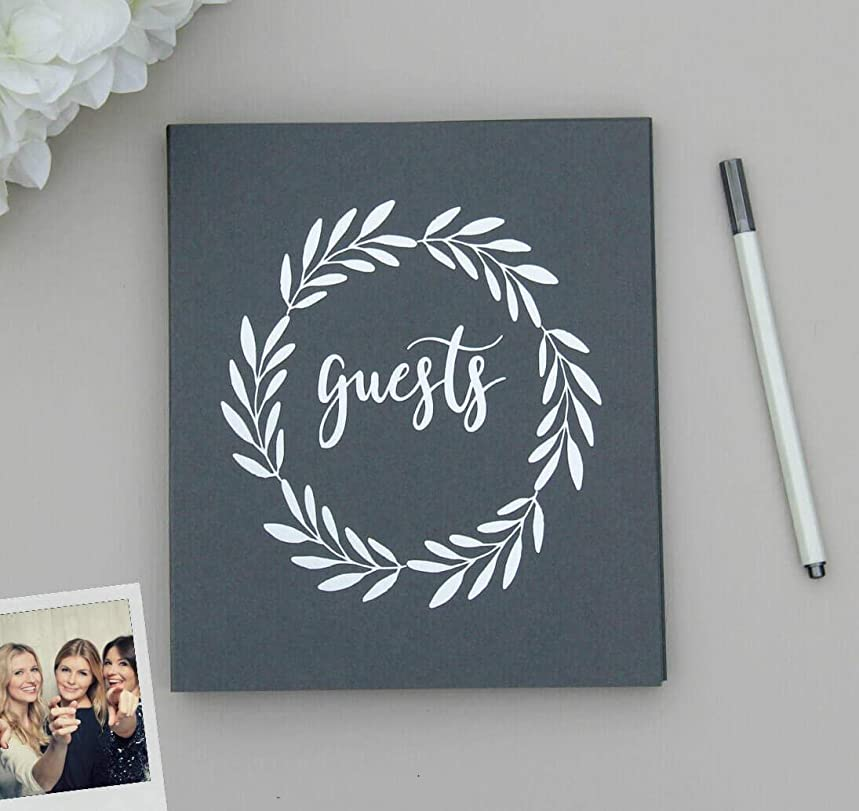 Rustic Wedding Guest Book Alternative. Softcover Flat-Lay Cardstock, 8.5