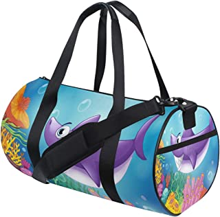 Watercolour Tiger Travel Carry-on Luggage Weekender Bag Overnight Tote Flight Duffel In Trolley Handle