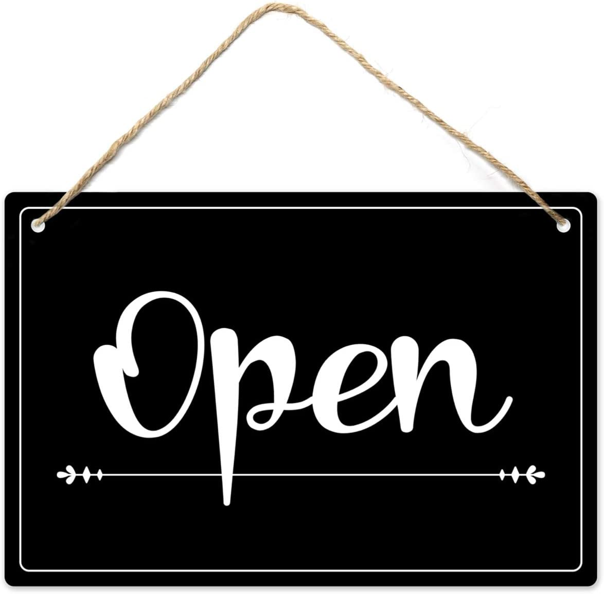 Open Closed Sign, 12″x8″ PVC Plastic Double Sided Hanging Sign, High Precision Printing, Water Proof, Open and Closed Sign for Business, Retail Store Supplies, Open Sign, Closed Sign : Office Products