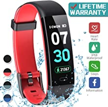 K-berho Fitness Tracker,Activity Tracker with Heart Rate Monitor,Step Counter Watch, Sleep Monitor Tracker,Pedometer Watch,Calorie Counter Watch Waterproof,Smart Watch for iPhone and Android