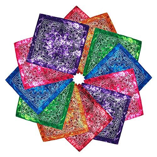 Cotton Bandanas Multipurpose Square Handkerchiefs Men
