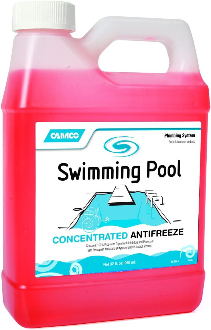 Camco 30054 04 Concentrated Swimming Pool Antifreeze 1 Quart 4 Pack Garden Outdoor