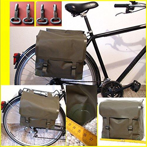 LAGERMAULWURF.de Satteltasche Seitentasche Kunststoff, Kevlar, Gummitaschen, Fahrrad,Moped Schwalbe S50, Simson 2 Stück !