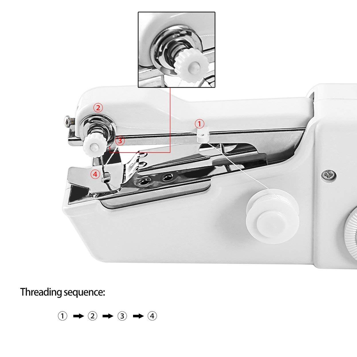 Mini máquina de coser eléctrica portátil a batería para el hogar ...