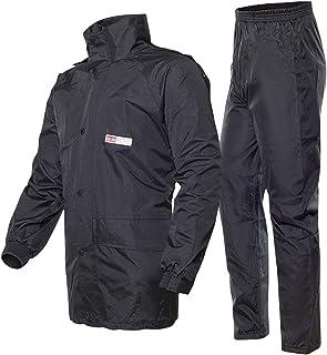 MINGJ Raincoat for Men Women Waterproof Rain Suits (Jacket + Pants) with Safety Reflectors Outdoor Anti-Storm Hooded Rainw...
