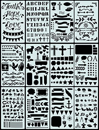 Essentials Faith Stencil Set (Bible Journaling) (over 350 designs)
