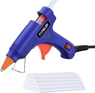 Hot Glue Gun, TOPELEK Mini Heating Hot Melt Glue Gun with 30pcs Melt Glue Sticks, Melting..