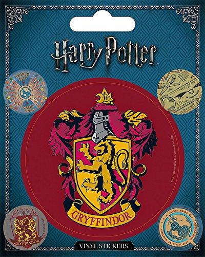 Harry Potter - Gryffindor Crest - Stickerset Set 5 Sticker Aufkleber - Magie Fantasy
