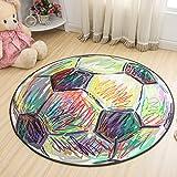 Jixing Kinder Cartoon Rutschfeste Matten Spieldecke Krabbeln Matten Runde Teppich