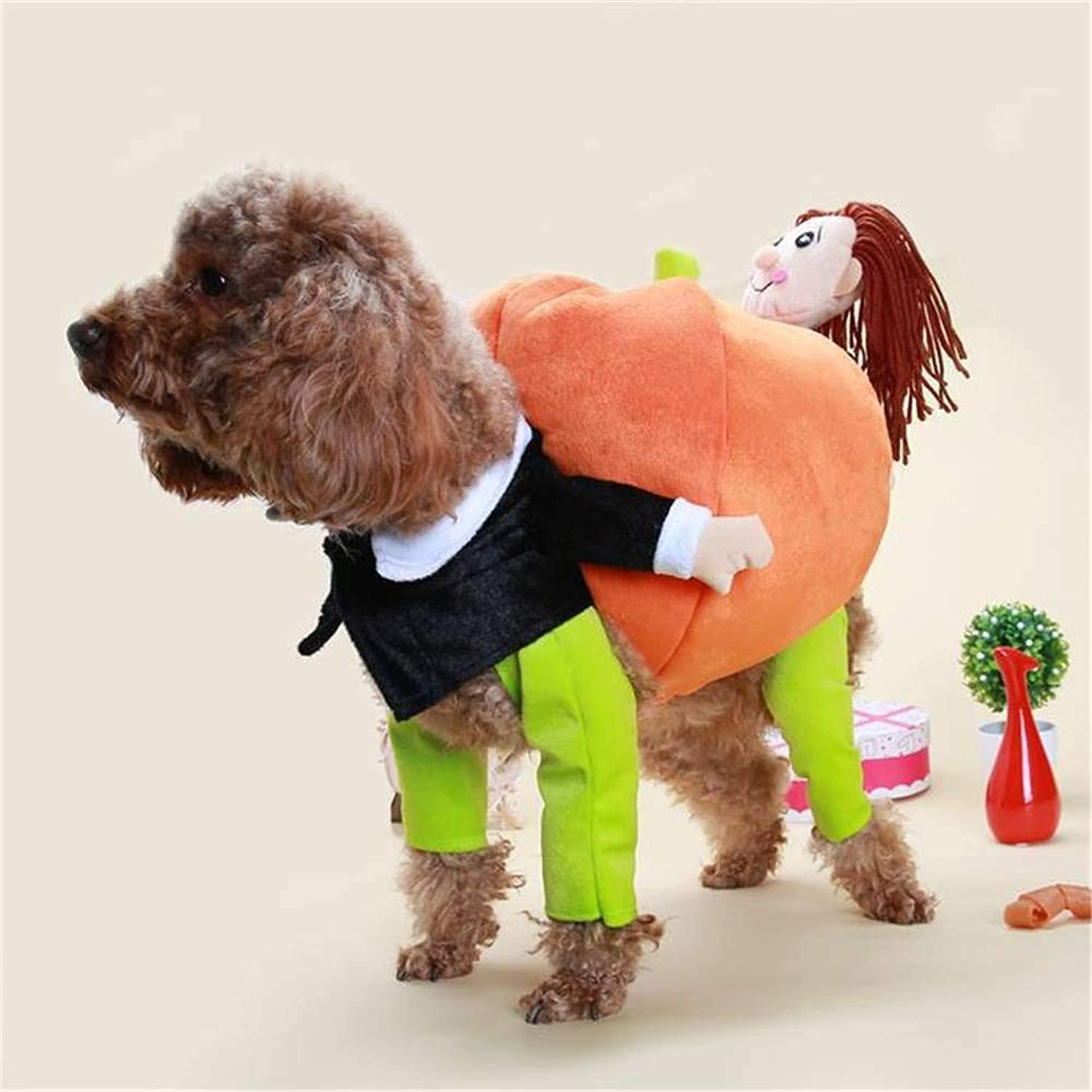 BFY Teddy Pet Dog Jacket Carrying Pumpkin Santa Claus Costume Party Clothes