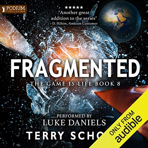Fragmented audiobook cover art