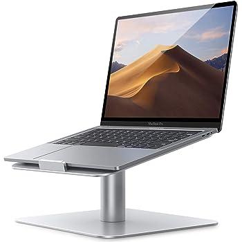 """Lamicall Soporte para Laptop, Base Laptop : [Giratorio 360] Stand para Laptop de mesa oficinas, Compatible con MacBook, Air, Pro, DELL, Asus, XPS, HP, Galaxy, Lenovo More 10"""" ~ 17"""" computadoras Notebooks –Plata"""