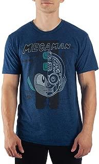 Capcom MegaMan Cool Digital Graphic Print Men's Navy Blue T-shirt