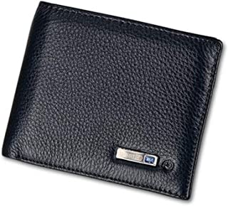 Genuine Leather Smart Wallet With Alarm GPS Wallets For Men Bluetooth Tracking