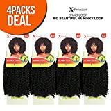 Outre Synthetic Hair Crochet Braids X-Pression Braid 4A-Kinky Loop (4-PACK, 1)