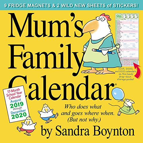Mum's Family Calendar Wall Calendar 2020