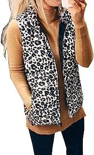 Kiss Me Womens Warm Fleece Sherpa Vest Lightweight Fuzzy Vest Zipper with Pockets Cardigan Waistcoat Furry Vest