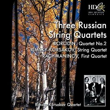 The Russian String Quartet; Borodin: Quartet No.2 in D major; Rimsky-Korsakov: String Quartet in F major, Op.12; Rachmaninov: First Quartet (unfinished)