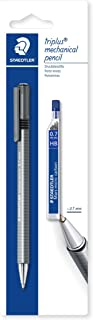 Staedtler Triplus Micro 77427BK25D Triangular Mechanical Pencil 0.7mm with Lead Refill Tube