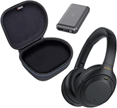 Sony WH-1000XM4 Wireless Noise Cancelling Over-Ear Headphone Bundle with gSport Hardshell Case and 20,000 mAh Powerbank (B...