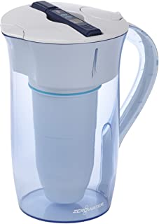 ZeroWater ZR-0810-4, 10 Cup Round Water Filter Pitcher with Water Quality Meter