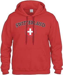 Switzerland Flag Crest Shield Sweatshirt Hoodie Hoody