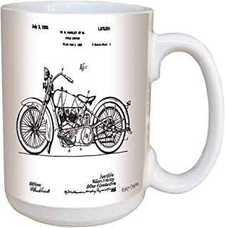 Harley Davidson Motorcycle Patent Coffee Mug - Large 15 Ounce Ceramic Mug