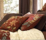 Noble Excellence Villa Verona Brown Floral STANDARD Pillow Sham by Noble Excellence