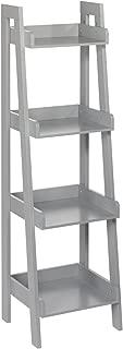RiverRidge 4-Tier Ladder Shelf for Kids, Gray