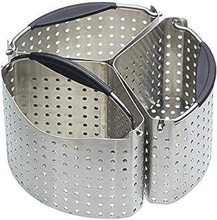 Kitchen Craft Stainless Steel Saucepan Divider Baskets, 20 cm (Set of 3), 10 x 10 x 16.5 cm, Silver