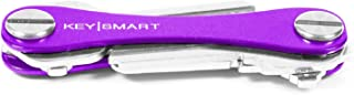 KeySmart Classic - Compact Key Holder and Keychain Organizer (up to 8 Keys, Purple)