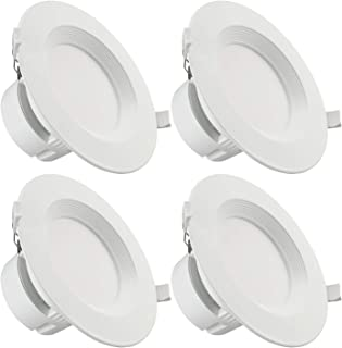 TORCHSTAR 4-Pack 6 Inch LED Recessed Downlight with Junction Box, 9W (80W Eqv.) Dimmable LED Ceiling Light Fixture, IC-Rated & Air Tight, Wet Location, 5000K Daylight, UL-listed, 5 Years Warranty