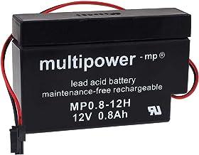 Multipower - Batería de Plomo para Motor de persianas (12 V, 0,8 Ah)