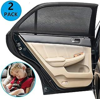 GOLDGE 2pcs Sonnenschutz Auto Baby mit UV Schutz Sonnenschutz Auto UV Schutz für Kinder Baby Erwachsene 110X50cm