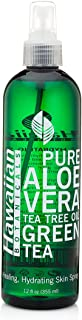 Hawaiian Botanicals Aloe Vera,Tea Tree Oil, Green Tea, Healing, Hydrating Skin Spray Large 12 oz. Bottle!