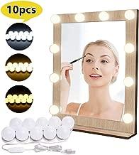 Luces para Espejo de Maquillaje LED Lámpara de Espejo Cosmético de Tocador con Estilo Hollywood 10 Piezas Bombillas Regulable EVILTO con USB Puerto, 10 Niveles de Brillo y 3 Modos de Color 3000K-6500K