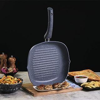 Wonderchef 60016700 - Sartén antiadherente de granito, tamaño 24 cm, para asar verduras y carnes, aluminio