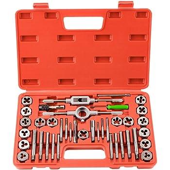 acero, 32 piezas, CM15 M3-M12 Exact 10711 Malet/ín con terrajas de roscar